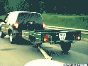 En rusia no importa si se te salio una rueda