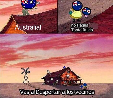 Pobre australia esta muy solo
