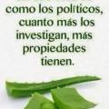 Aloe vera vs Politicos