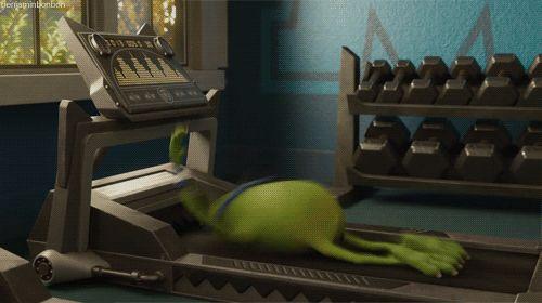 Cuando veas una persona linda en el gimnasio.