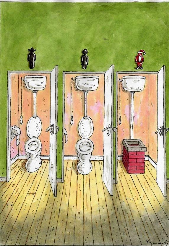El baño de Santa