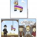 Y por eso las piñatas se cuelgan