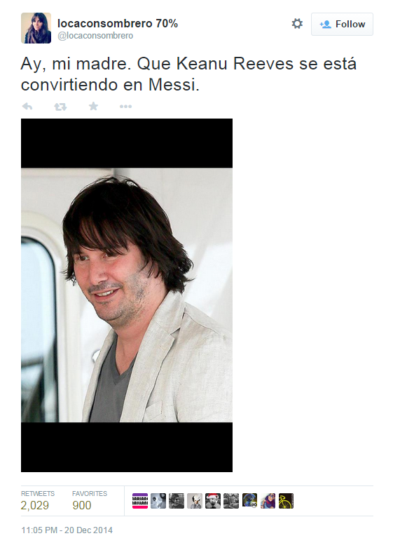 keane reeves en messi