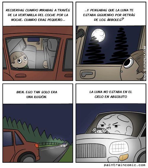 la luna nos persigue