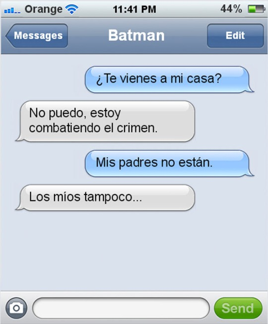 Batman no sabe coquetear
