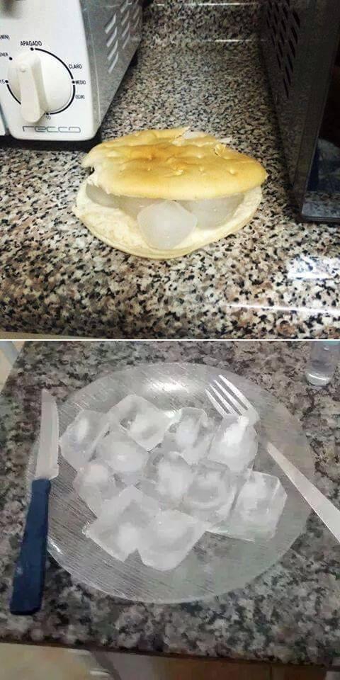 Desayuno y almuerzo de un universitario