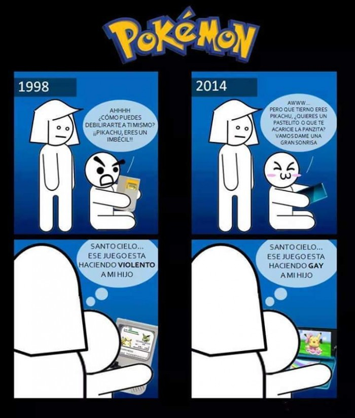 Pokemon antes y despues
