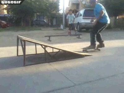 Increible truco en Skate