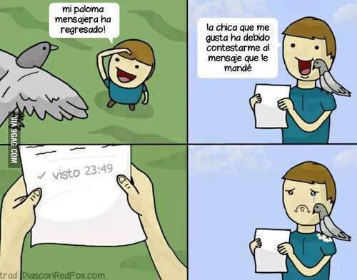 Las palomas mensajes son muy similar a la tecnologia moderna
