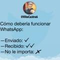 Como deberia funcionar whatsApp
