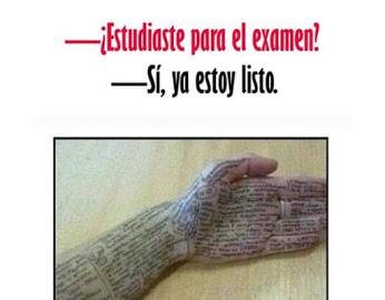 Estudiaste para el examen