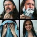 Hombres tras afeitarse