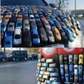 Un auto formado con autos