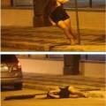 Un baile erotico en la via publica