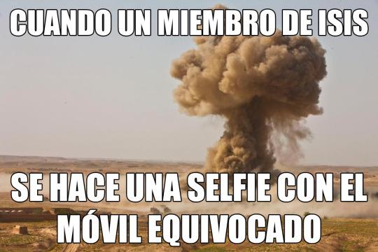 Una selfie con el movil equivocado