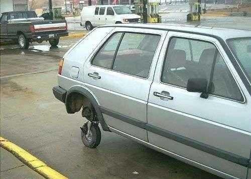 Como cambiar la rueda de un automovil
