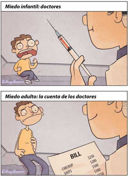 Esto explica el miedo de ir al medico