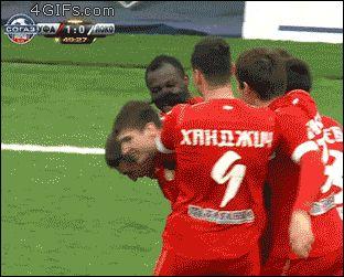 La manera mas extraña de celebrar un gol
