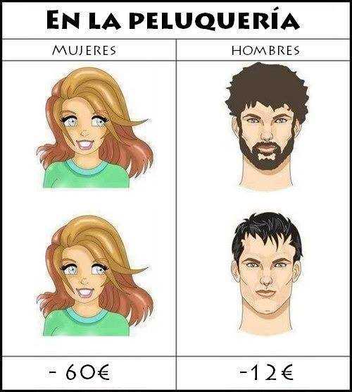 Peluqueria de hombres vs mujeres