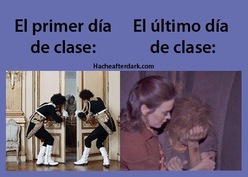primer dia vs ultimo dia de clases