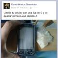 Como limpiar la pantalla del celular
