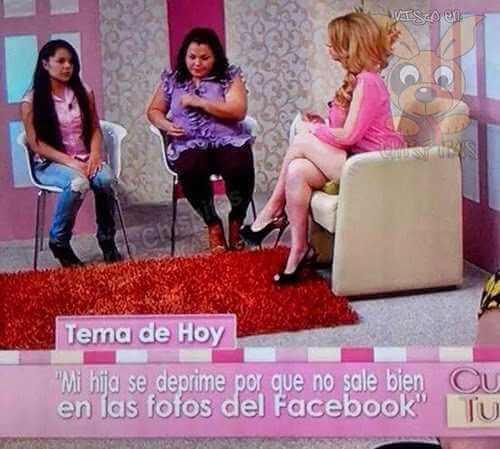 La niña que no sale bien en las fotos de facebook