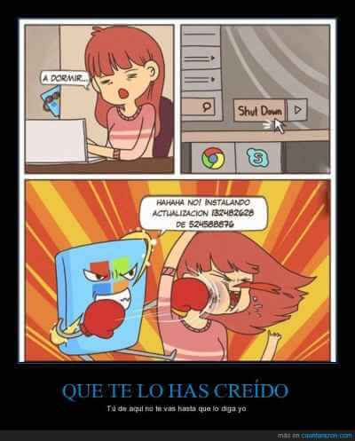 La violencia que genera windows