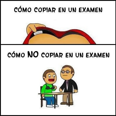 Como copiar en un examen