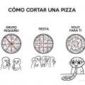 Como cortar una pizza