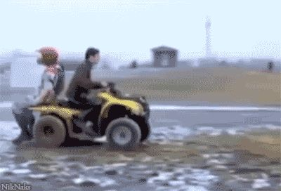 El casco le salvo la vida