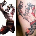 Espectacular tatuaje de Kratos