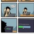 La emocion de instalar aplicaciones
