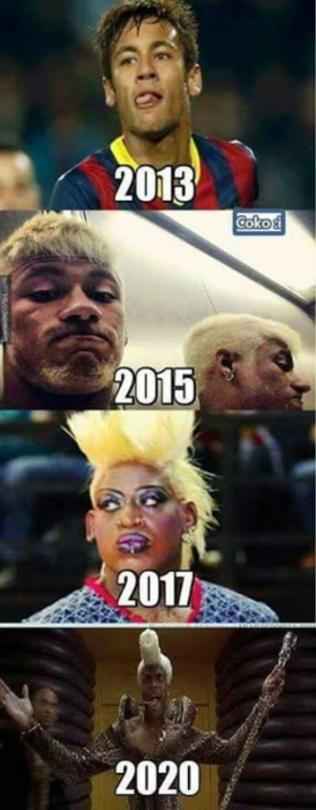 La evolucion del look de Neymar