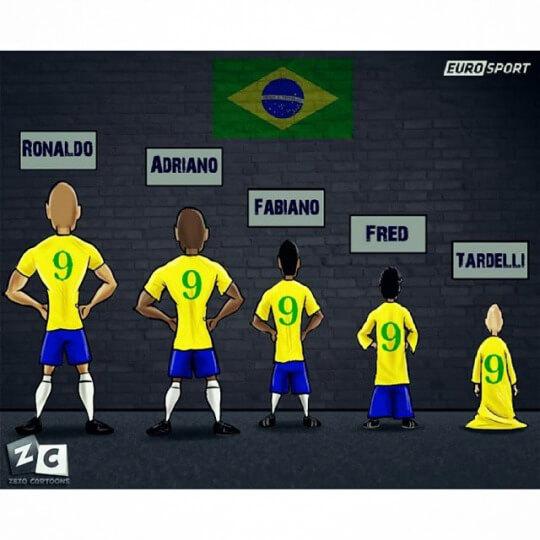 La involución del numero 9 de Brasil