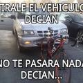 Una camioneta es mas debil que una bicicleta