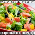 Como reconocer a una persona vegetariana