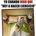 Cuando digo que hare ejercicio