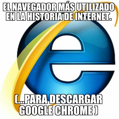 El navegador mas utilizado en la historia de Internet
