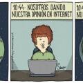 Esto pasa cuando das tu opinion en Internet