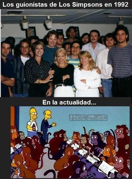 Estos fueron los guionistas de los Simpsons