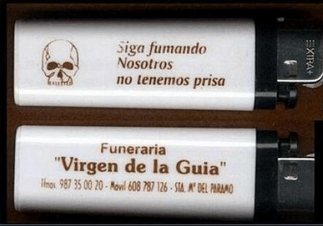 Publicidad de una funeraria