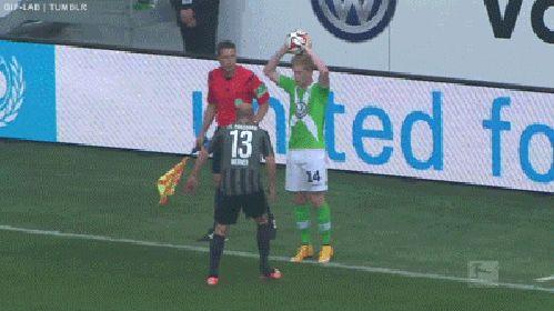 Llamativa manera de provocar en e futbol aleman
