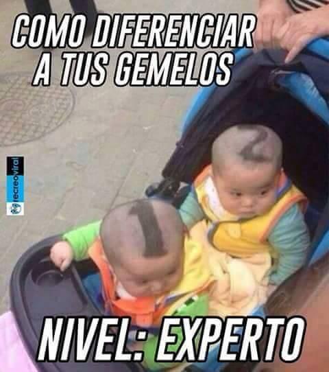Como diferenciar a dos gemelos