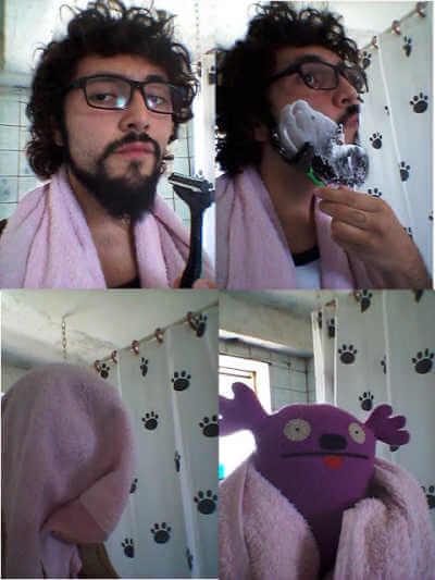 Como queda un hombre tras el afeitado