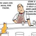 Cuando un gato visita un bar