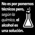 El alcohol es una solucion