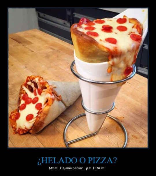 Helado o pizza