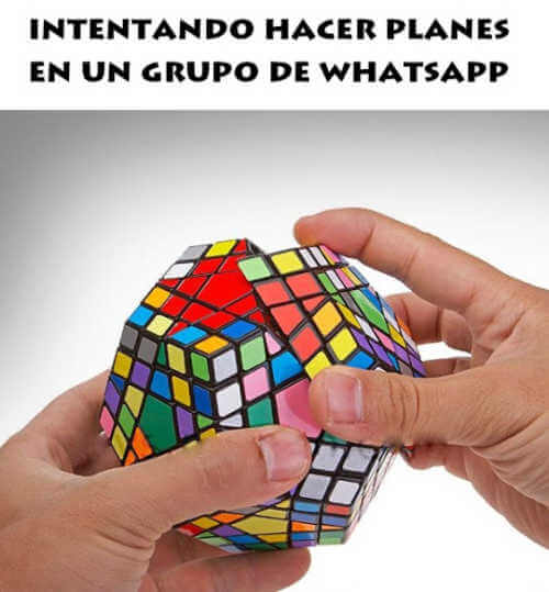 Intentando hacer planes por whatsapp