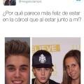 Justin Bieber es mas feliz en la carcel que con sus fans