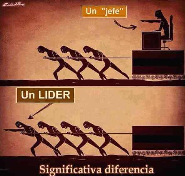 La diferencia entre un lider y un jefe